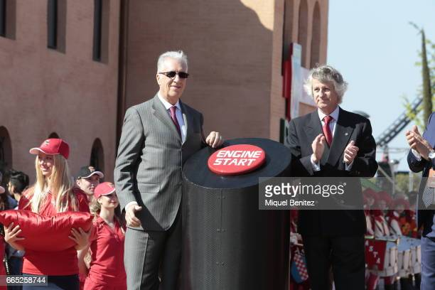 Piero Lardi Ferrari attends the new Ferrari Land at Port Aventura World on April 6 2017 in Tarragona Spain