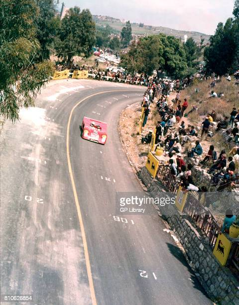 Piero Monticone driving a Chevron B21 at Targa Florio 13th