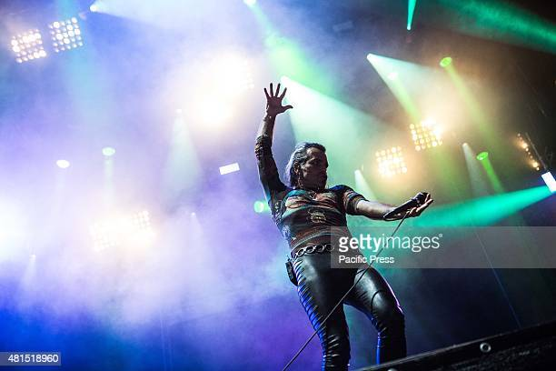 Piero Pelu' of the rock band Litfiba pictured on stage as they perform at Moon And Stars Litfiba is an Italian rockband formed in Florence in early...