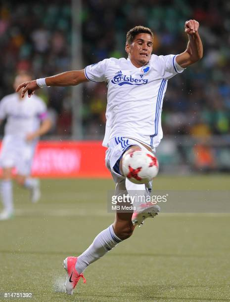 Pieros Sotiriou during the UEFA European Champions League Second qualifying round Match 1 match between MSK Zilina FC Copenhagen at Stadion pod...