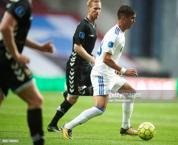 Pieros Sotiriou of FC Copenhagen controls the ball during the Danish Alka Superliga match between FC Copenhagen and AC Horsens at Telia Parken...