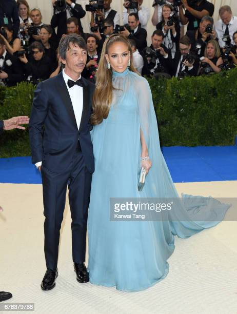 Pierpaolo Piccioli and Jennifer Lopez attend the 'Rei Kawakubo/Comme des Garcons Art Of The InBetween' Costume Institute Gala at the Metropolitan...