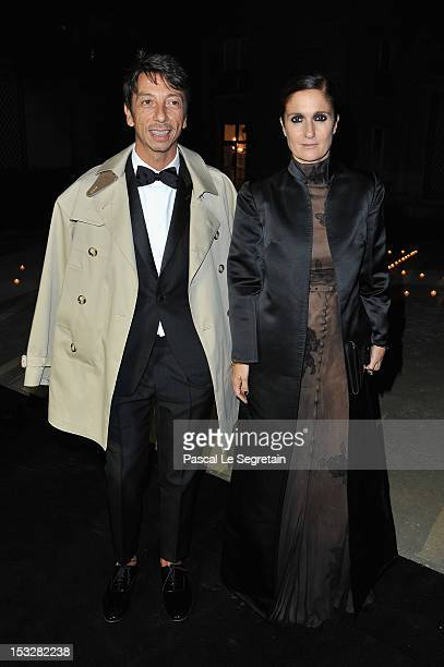 Pierpaolo Piccioli and Maria Grazia Chiuri attends LE BAL hosted by MAC and Carine Roitfeld as part of Paris Fashion Week Spring / Summer 2013 at...