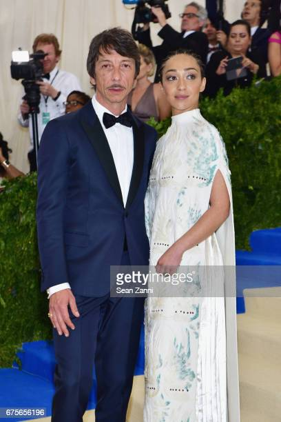 Pierpaolo Piccioli and Ruth Negga arrive at 'Rei Kawakubo/Comme des Garcons Art Of The InBetween' Costume Institute Gala at The Metropolitan Museum...