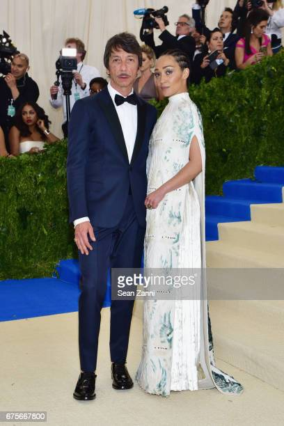 Pierpaolo Piccioli and Ruth Negga arrives at 'Rei Kawakubo/Comme des Garcons Art Of The InBetween' Costume Institute Gala at The Metropolitan Museum...