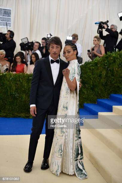 Pierpaolo Piccioli and Ruth Negga at Metropolitan Museum of Art on May 1 2017 in New York City