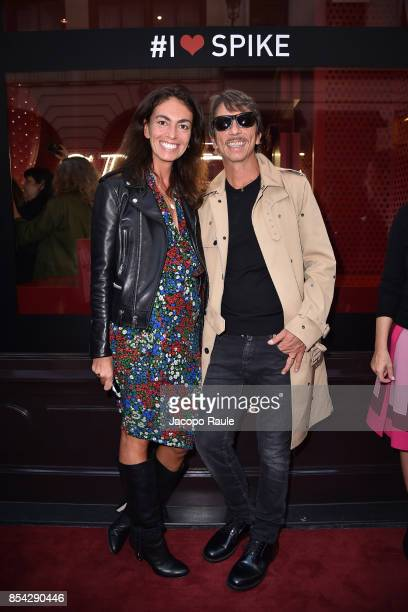 Pierpaolo Piccioli and Viviana Volpicella attend the Valentino #ILoveSpike Cocktail as part of the Paris Fashion Week Womenswear Spring/Summer 2018...