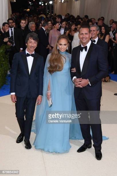 Pierpaolo Piccioli Jennifer Lopez and Alex Rodriguez attend 'Rei Kawakubo/Comme des Garcons Art Of The InBetween' Costume Institute Gala Arrivals at...