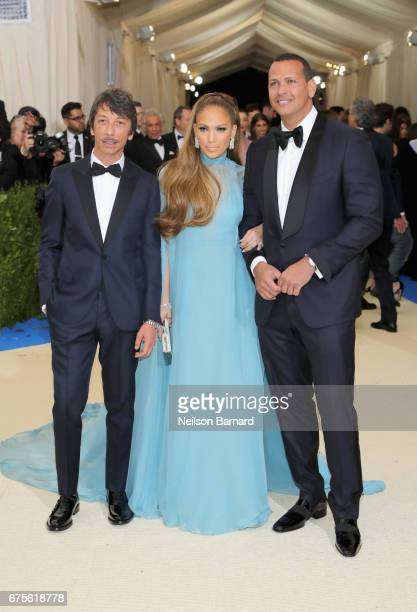 Pierpaolo Piccioli Jennifer Lopez and Alex Rodriguez attend the 'Rei Kawakubo/Comme des Garcons Art Of The InBetween' Costume Institute Gala at...