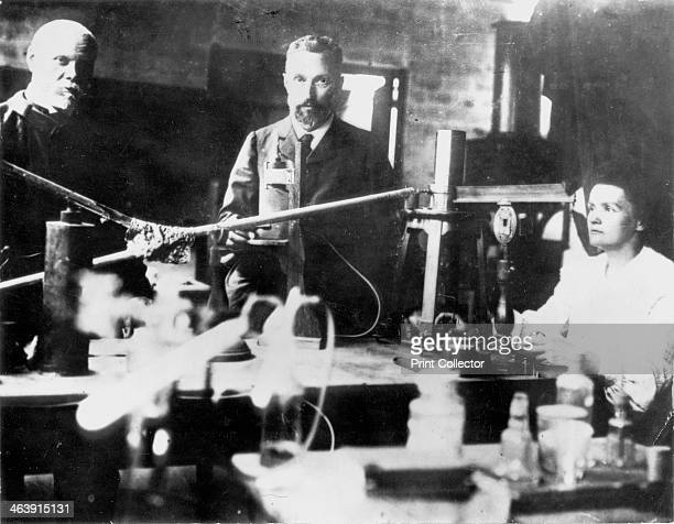 Pierre and Marie Curie French scientists at work in the laboratory Polishborn Marie Curie and her husband Pierre continued the work on radioactivity...