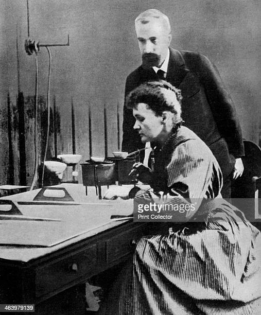 Pierre and Marie Curie in their laboratory 1898 Polishborn Marie Curie and her husband Pierre continued the work on radioactivity started by Henri...