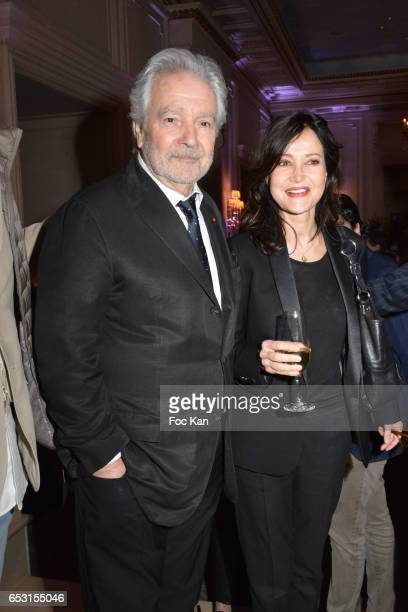 Pierre Arditi and Evelyne Bouix attend 'La Recherche en Physiologie' Charity Gala at Four Seasons Hotel George V on March 13 2017 in Paris France