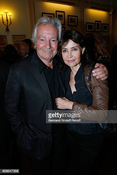 Pierre Arditi and Evelyne Bouix attend the 'Tout ce que vous voulez' Theater Play at Theatre Edouard VII on September 19 2016 in Paris France