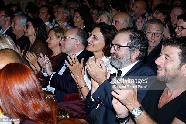 Pierre Arditi Evelyne Bouix Interior Minister of France Bernard Cazeneuve and his wife Veronique Ines de La Fressange President of Lagardere Active...