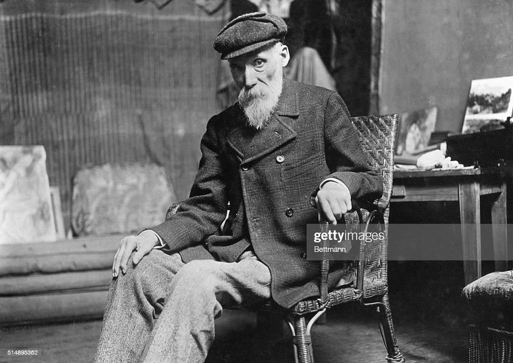 Pierre August Renoir (1841-1919), French painter, toward the end of his life.