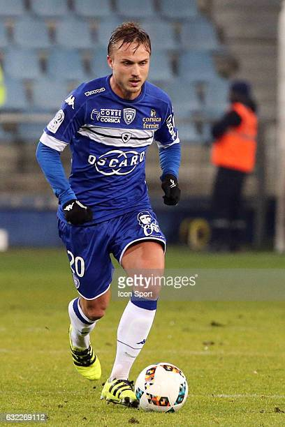 Pierre Bengtsson of Bastia during the French Ligue 1 match between Bastia and Nice at Stade Armand Cesari on January 21 2017 in Bastia France