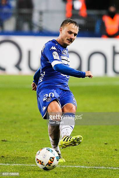 Pierre Bengtsson of Bastia during the French Ligue 1 match between Bastian and Caen at Stade Armand Cesari on January 28 2017 in Bastia France
