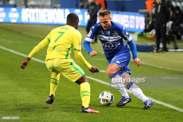 Pierre Bengtsson of Bastia during the French Ligue 1 match between Bastia and Nantes at Stade Armand Cesari on March 1 2017 in Bastia France