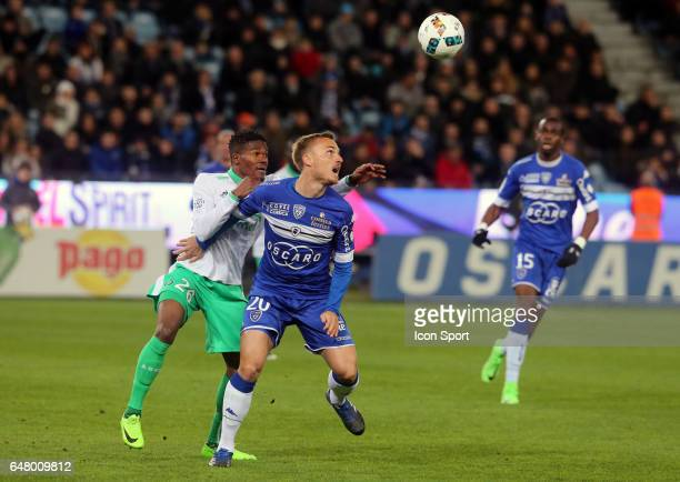 Pierre BENGTSSON of Bastia during the French Ligue 1 match between Bastia and Saint Etienne at Stade Armand Cesari on March 4 2017 in Bastia France