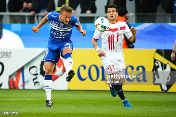 Pierre Bengtsson of Bastia during the French Ligue 1 match between Bastia and Lille at Stade Armand Cesari on April 1 2017 in Bastia France