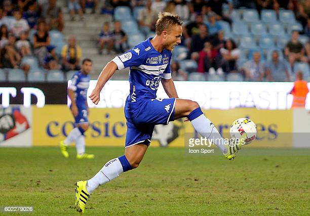 Pierre BENGTSSON of Bastia during the french Ligue 1 match between Sc Bastia and Toulouse Fc at Stade Armand Cesari on September 10 2016 in Bastia...