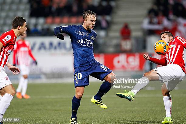 Pierre Bengtsson of Bastia during the Ligue 1 match between AS Nancy Lorraine and SC Bastia at Stade Marcel Picot on January 14 2017 in Nancy France
