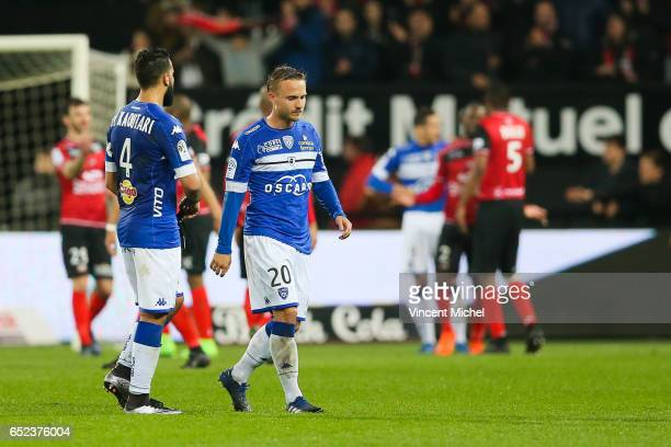 Pierre Bengtsson of Bastia during the Ligue 1 match between EA Guingamp and SC Bastia at Stade du Roudourou on March 11 2017 in Guingamp France