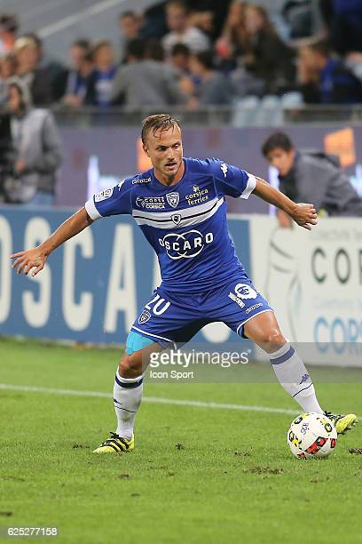 Pierre BENGTSSON OF BASTIA during the Ligue 1 match between SC Bastia and EA Guingamp at Stade Armand Cesari on September 24 2016 in Bastia France