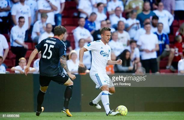Pierre Bengtsson of FC Copenhagen controls the ball during the Danish Alka Superliga match between FC Copenhagen and AaB Aalborg at Telia Parken...