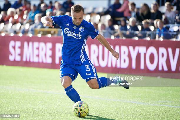 Pierre Bengtsson of FC Copenhagen in action during the Danish Alka Superliga match between FC Nordsjalland and FC Copenhagen at Right to Dream Park...