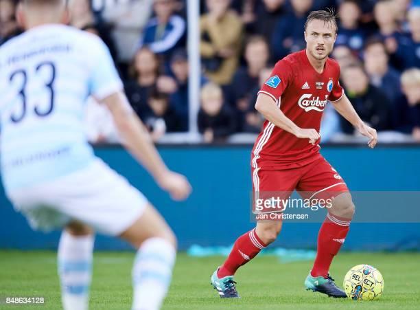 Pierre Bengtsson of FC Copenhagen in action during the Danish Alka Superliga match between FC Helsingor and FC Copenhagen at Helsingor Stadion on...