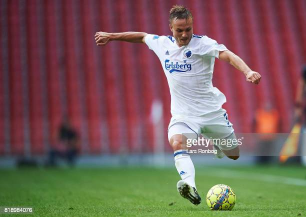 Pierre Bengtsson of FC Copenhagen in action during the UEFA Champions League Qualification match between FC Copenhagen and MSK Zilina at Telia Parken...