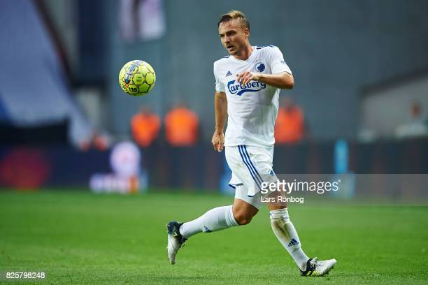 Pierre Bengtsson of FC Copenhagen in action during the UEFA Champions League Qualification 3rd round 2th leg match between FC Copenhagen and Vardar...