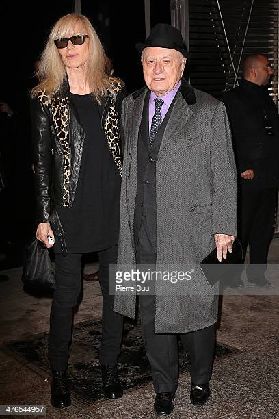 Pierre Berge and Betty Catrou attend the Saint Laurent show as part of the Paris Fashion Week Womenswear Fall/Winter 20142015 on March 3 2014 in...