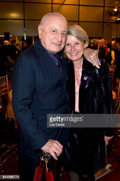 Pierre Berge and Blanche Buffet attend the Dinner to benefit the collections of the 'Bibliotheque Nationale de France' on October 14 2013 in Paris...