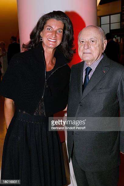 Pierre Berge and Evelyne de Rochefort attend 'Friends of Quai Branly Museum Society' dinner party at Musee du Quai Branly on September 9 2013 in...