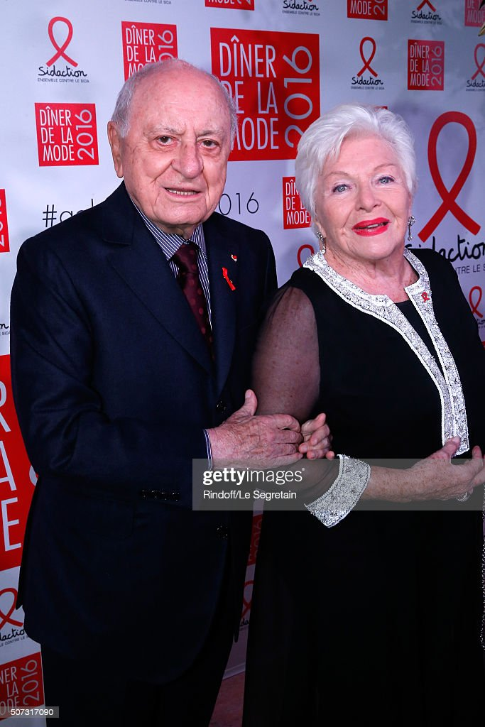 Pierre Berge and Line Renaud attend the Sidaction Gala Dinner 2016 as part of Paris Fashion Week Held at Pavillon d'Armenonville on January 28 2016...