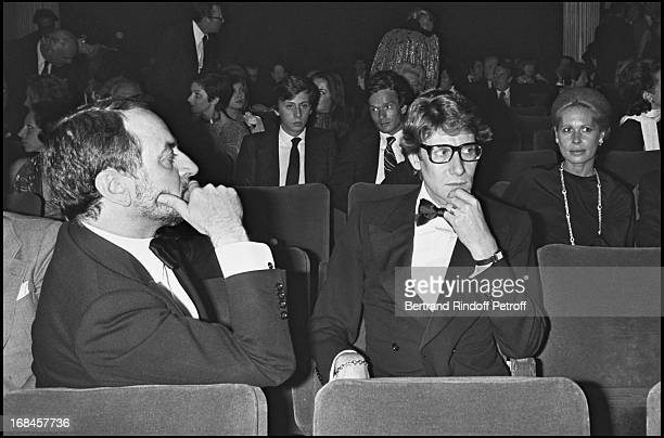 Pierre Berge And Yves Saint Laurent At The Premiere Of Hotel Du Lac In Paris 1976