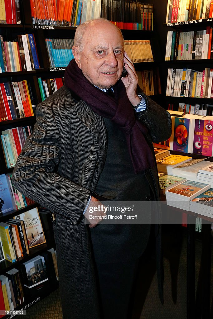 <a gi-track='captionPersonalityLinkClicked' href=/galleries/search?phrase=Pierre+Berge&family=editorial&specificpeople=770934 ng-click='$event.stopPropagation()'>Pierre Berge</a> attends the book signing of 'Dream Life' (Vie Revee) by Thadee Klossowski De Rola at Galignani Bookstore in Paris, France on March 20, 2013.