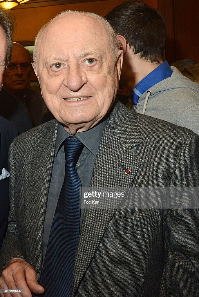 Pierre Berge attends the Francis Boussard's and Nadine Carpentier's : Private Cocktail At Cafe de Flore on April 30, 2014 in Paris, France.