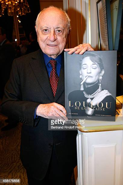 Pierre Berge attends the 'Loulou de la Falaise' book signing Held at the Fondation 'Pierre Berge Yves Saint Laurent' on November 5 2014 in Paris...