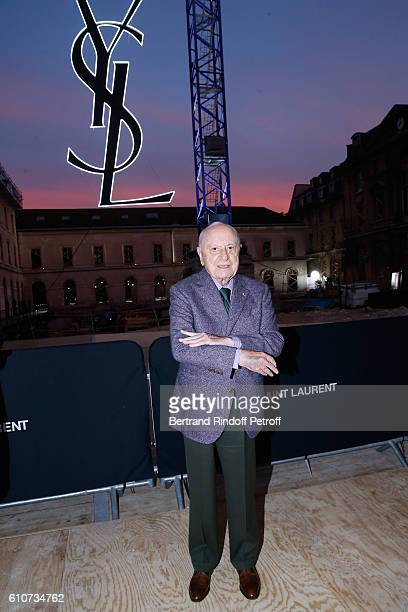 Pierre Berge attends the Saint Laurent show as part of the Paris Fashion Week Womenswear Spring/Summer 2017 on September 27 2016 in Paris France