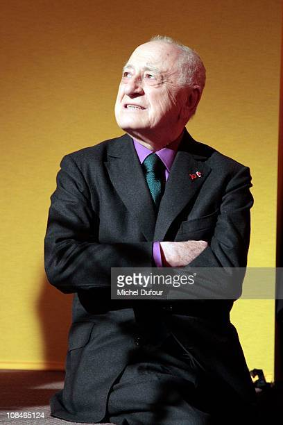 Pierre Berge attends the Sidaction Gala Dinner 2011 at Pavillon d'Armenonville on January 27 2011 in Paris France