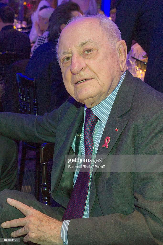 Pierre Berge attends the Sidaction Gala Dinner 2013 at Pavillon d'Armenonville on January 24, 2013 in Paris, France.