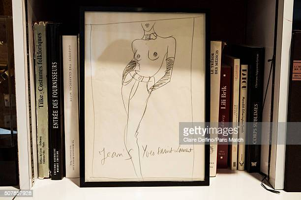 Pierre Berge cofounder of Yves Saint Laurent Couture House and onetime life partner and longtime business partner of Yves Saint Laurent Photographed...