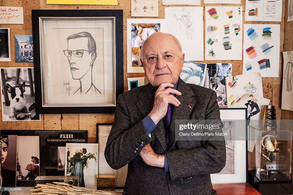 <a gi-track='captionPersonalityLinkClicked' href=/galleries/search?phrase=Pierre+Berge&family=editorial&specificpeople=770934 ng-click='$event.stopPropagation()'>Pierre Berge</a>, co-founder of Yves Saint Laurent Couture House and onetime life partner and longtime business partner of Yves Saint Laurent. Photographed for Paris Match in Yves Saint Laurent's studio on Avenue Marceau in Paris on January 20, 2016.