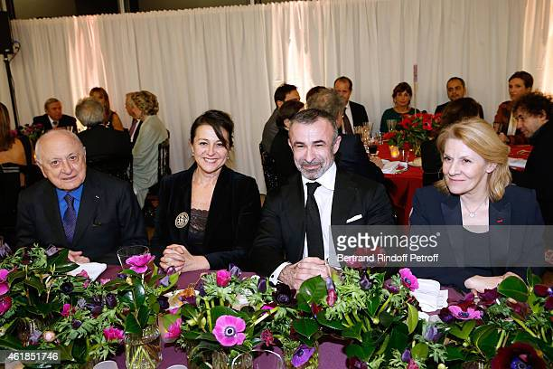 Pierre Berge Cultural Advisor to the French President of the Republic Regine Hatchondo President of Centre Pompidou Alain Seban and President of the...