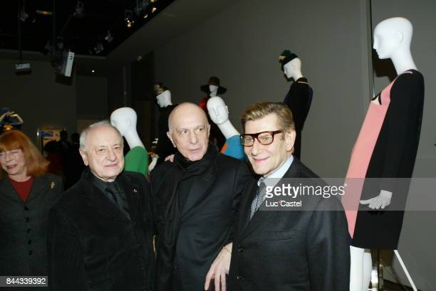 Pierre Berge guest and Yves SaintLaurent attends the first 'Fondation Pierre Berge Yves SaintLaurent' exhibition opening on March 05 2004 in Paris...