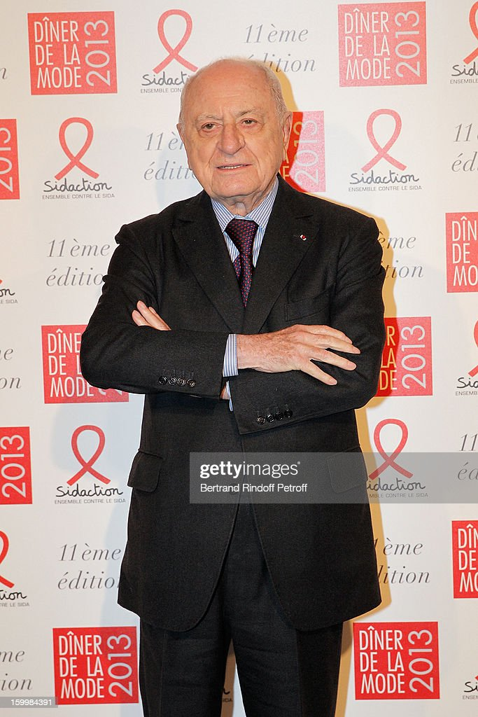 Pierre Berge poses as he arrives to attend the Sidaction Gala Dinner 2013 at Pavillon d'Armenonville on January 24, 2013 in Paris, France.