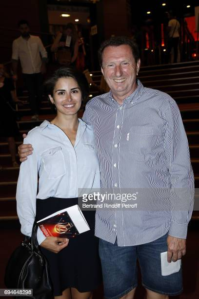 Pierre Botton and guest attend 10th Anniversary of 'Le Point Virgule' at L'Olympia on June 10 2017 in Paris France